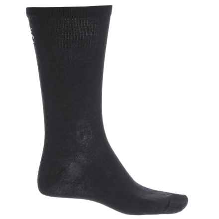 SmartWool Hike Liner Socks - Merino Wool, Crew (For Men and Women) in Black - Closeouts