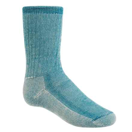 SmartWool Hike Medium Socks - Merino Wool, Crew (For Little and Big Kids) in Blue Teal - Closeouts