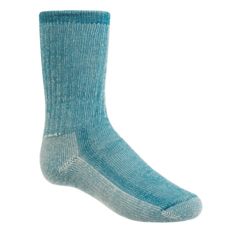 SmartWool Hike Medium Socks - Merino Wool, Crew (For Little and Big Kids) in Blue Teal