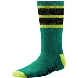 SmartWool Hike Stripe Socks - Merino Wool, Crew (For Little and Big Kids) in Alpine Green