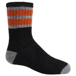 SmartWool Hike Stripe Socks - Merino Wool, Crew (For Little and Big Kids) in Black