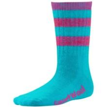 SmartWool Hike Stripe Socks - Merino Wool, Crew (For Little and Big Kids) in Capri - 2nds