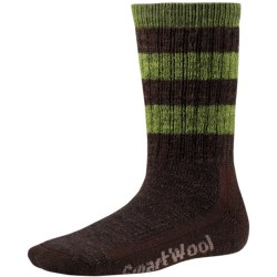 SmartWool Hike Stripe Socks - Merino Wool, Crew (For Little and Big Kids) in Chestnut