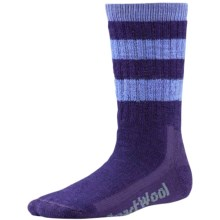SmartWool Hike Stripe Socks - Merino Wool, Crew (For Little and Big Kids) in Imperial Purple - 2nds