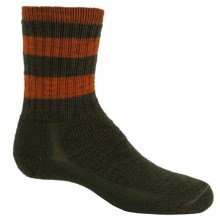 SmartWool Hike Stripe Socks - Merino Wool, Crew (For Little and Big Kids) in Loden/Orange - 2nds
