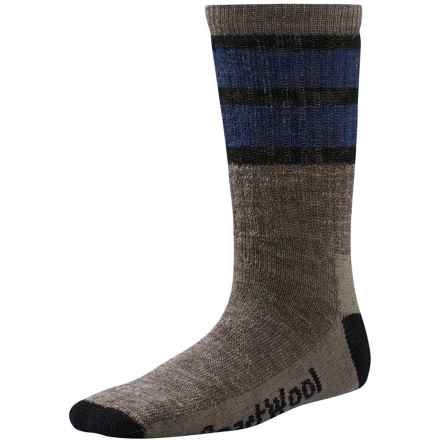 SmartWool Hike Stripe Socks - Merino Wool, Crew (For Little and Big Kids) in Taupe - 2nds