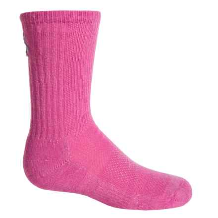 SmartWool Hike Ultralight Socks - Merino Wool, Crew (For Kids) in Peony - 2nds