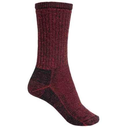 SmartWool Hiking Crew Socks - Merino Wool (For Women) in Black/Red - Closeouts