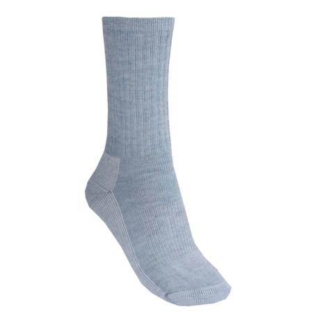 SmartWool Hiking Crew Socks - Merino Wool (For Women) in Light Blue