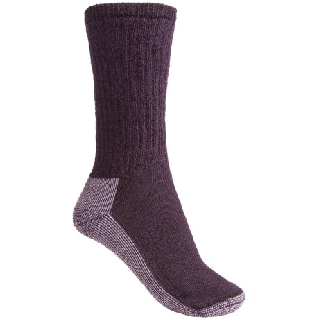 SmartWool Hiking Crew Socks - Merino Wool (For Women) in Purple Heather/Light Purple Heather
