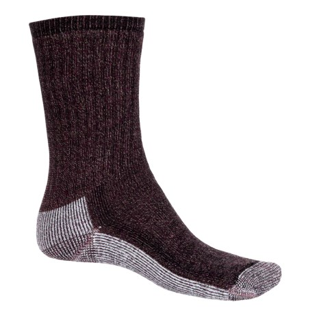 SmartWool Hiking Crew Socks - Merino Wool (For Women) in Wine Heather