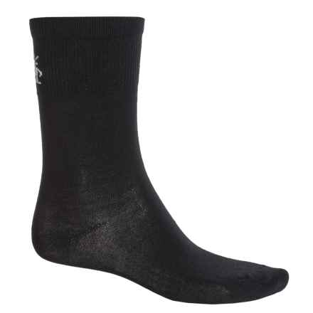SmartWool Hiking Liner Socks - Merino Wool, Crew (For Men) in Black - 2nds