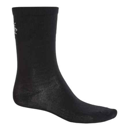 SmartWool Hiking Liner Socks - Merino Wool, Crew (For Men) in Black - 2nds