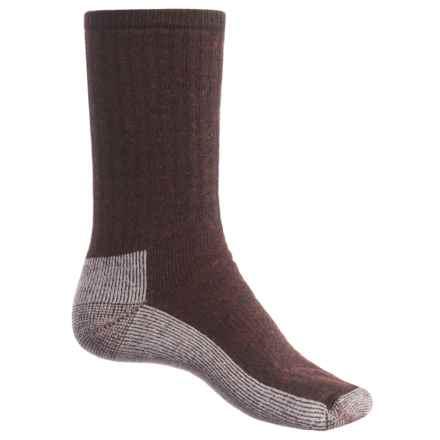 SmartWool Hiking Medium Socks - Merino Wool, Crew (For Men) in Chestnut/Cinnamon - Closeouts