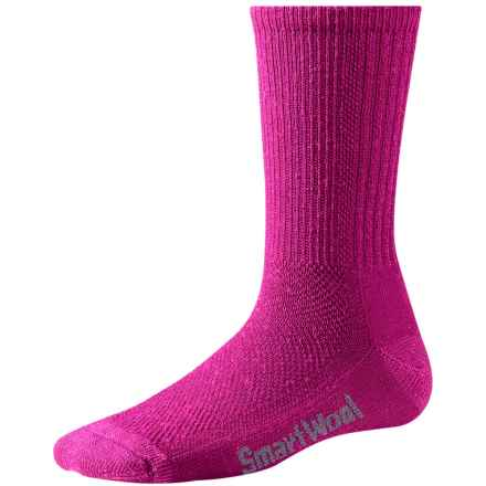 SmartWool Hiking Socks - Merino Wool, Crew (For Women) in Berry - Closeouts