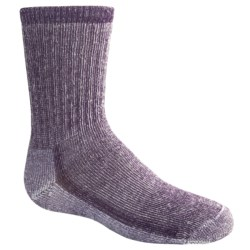SmartWool Hiking Socks - Merino Wool, Medium Crew (For Kids) in Purple