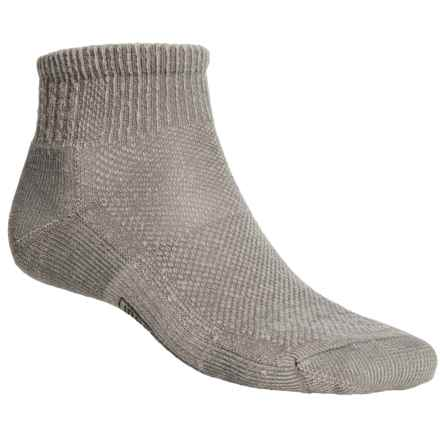 SmartWool Hiking Ultralight Mini Socks - Merino Wool, Quarter-Crew (For Men and Women) in Grey - 2nds