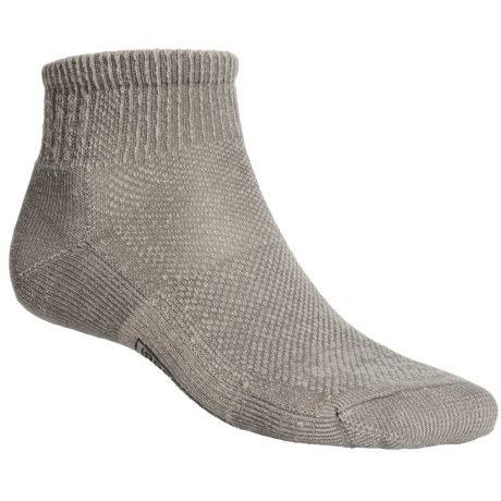 SmartWool Hiking Ultralight Mini Socks - Merino Wool, Quarter-Crew (For Men and Women) in Grey