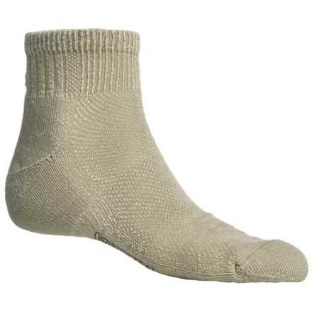 SmartWool Hiking Ultralight Mini Socks - Merino Wool, Quarter-Crew (For Men and Women) in Oatmeal - 2nds