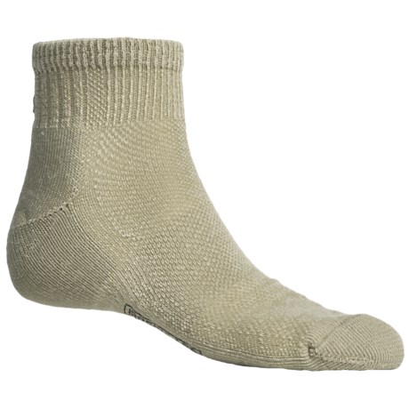 SmartWool Hiking Ultralight Mini Socks - Merino Wool, Quarter-Crew (For Men and Women) in Oatmeal