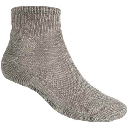 SmartWool Hiking Ultralight Mini Socks - Merino Wool, Quarter-Crew (For Men and Women) in Taupe - 2nds