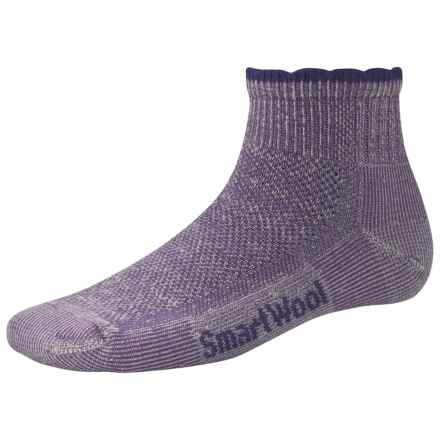 SmartWool Hiking Ultralight Mini Socks - Merino Wool, Quarter Crew (For Women) in Lavender - 2nds