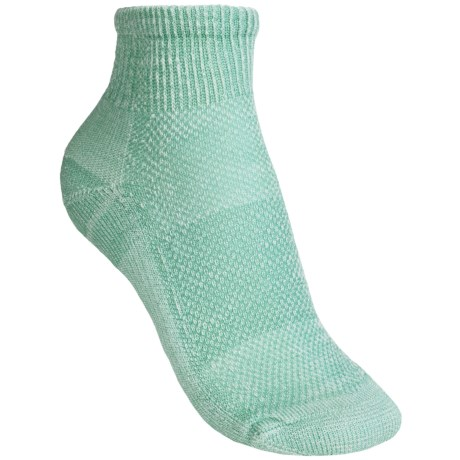 SmartWool Hiking Ultralight Mini Socks - Merino Wool, Quarter Crew (For Women) in Mineral