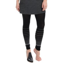 SmartWool Horizon Line Footless Tights - Merino Wool Blend (For Women) in Black - Closeouts