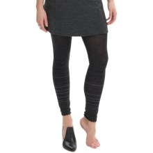SmartWool Horizon Line Footless Tights - Merino Wool Blend (For Women) in Charcoal Heather - Closeouts