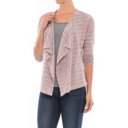 SmartWool Horizon Line Shirt Wrap - Merino Wool, Long Sleeve (For Women) in Mineral Pink - Closeouts