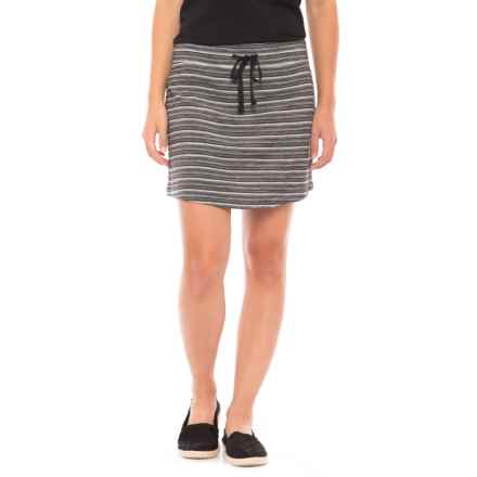 SmartWool Horizon Line Skirt - Merino Wool (For Women) in Black - Closeouts
