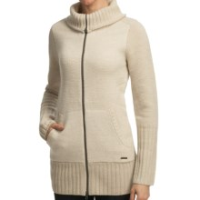 SmartWool Hot Springs Sweater Jacket - Merino Wool (For Women) in Natural Marl - Closeouts