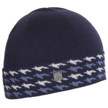 SmartWool Houndstooth Cuffed Beanie (For Men and Women) in Ink Heather - Closeouts