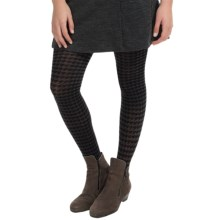 SmartWool Houndstooth Tights - Merino Wool (For Women) in Black - Closeouts