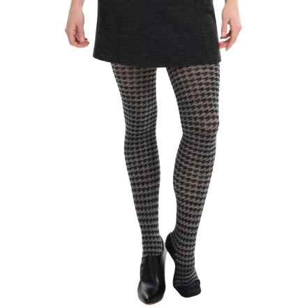 SmartWool Houndstooth Tights - Merino Wool (For Women) in Medium Gray - Closeouts