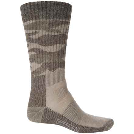 SmartWool Hunt Medium Camo Socks - Merino Wool, Crew (For Men) in Fossil - 2nds