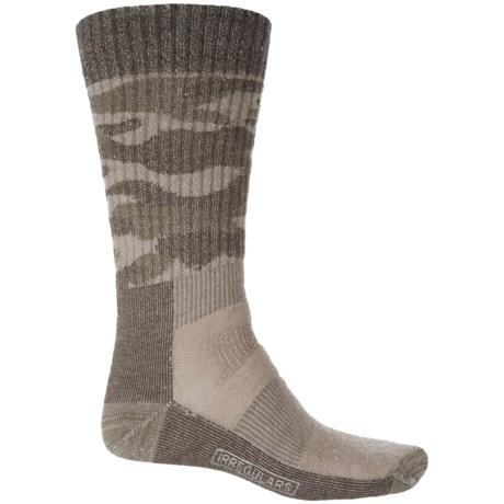 SmartWool Hunt Medium Camo Socks - Merino Wool, Crew (For Men) in Fossil