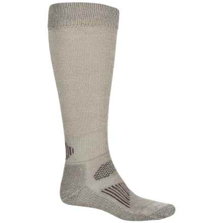 SmartWool Hunting Light Socks - Merino Wool, Over the Calf (For Men and Women) in Taupe - Closeouts