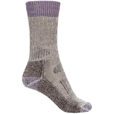 SmartWool Hunting Socks - Merino Wool, Crew (For Women) in Chestnut/Desert Purple - Closeouts