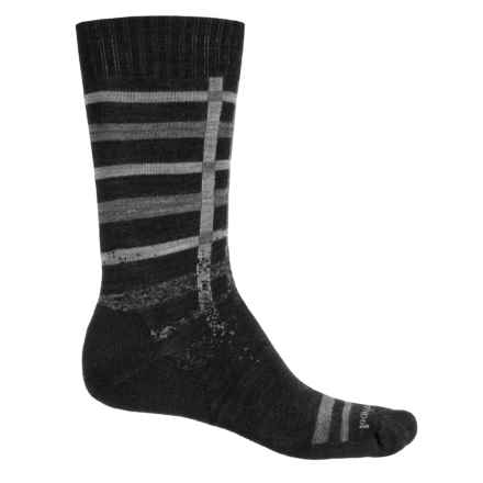 SmartWool Huntley Socks - Merino Wool, Crew (For Men) in Charcoal Heather - Closeouts
