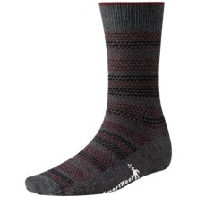 SmartWool Incline Tweed Socks - Merino Wool, Lightweight, Crew (For Men) in Charcoal Heather - 2nds