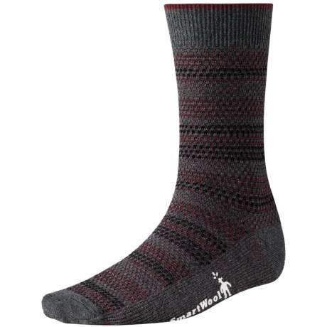 SmartWool Incline Tweed Socks - Merino Wool, Lightweight, Crew (For Men) in Charcoal Heather