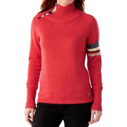 SmartWool Isto Sport Sweater - Merino Wool, Zip Neck (For Women) in Hibiscus Heather - Closeouts