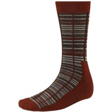 SmartWool Jovian Grid Socks - Merino Wool, Midweight, Crew (For Men) in Cinnamon Heather - 2nds