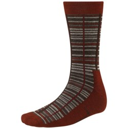 SmartWool Jovian Grid Socks - Merino Wool, Midweight, Crew (For Men) in Cinnamon Heather