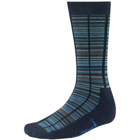 SmartWool Jovian Grid Socks - Merino Wool, Midweight, Crew (For Men) in Deep Navy Heather