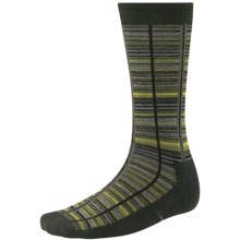 SmartWool Jovian Grid Socks - Merino Wool, Midweight, Crew (For Men) in Forest - 2nds
