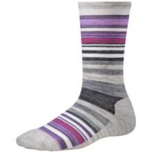 SmartWool Jovian Stripe Socks - Merino Wool, Crew (For Women) in Ash Heather - Closeouts