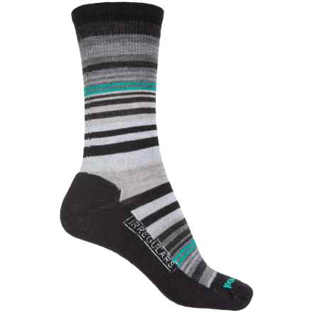 SmartWool Jovian Stripe Socks - Merino Wool, Crew (For Women) in Black - 2nds