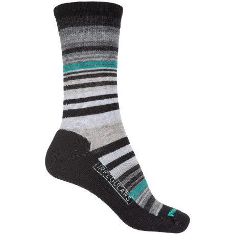SmartWool Jovian Stripe Socks - Merino Wool, Crew (For Women) in Black